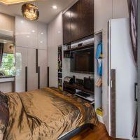 Master Bedroom V5 TV Feature cum Wardrobe