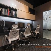 Study Table & Wall Mounted Bookshelves