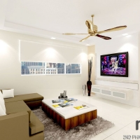 Living area_ TV console