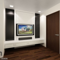 TV feature wall & console