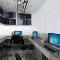 Workstation beside server room