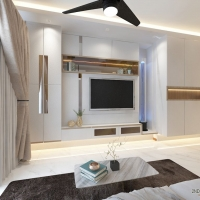 Living Area- TV Feature wall