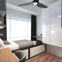 Bedroom V1- Platform cum Study Table