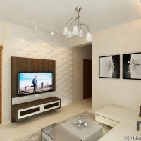 Living area- TV feature