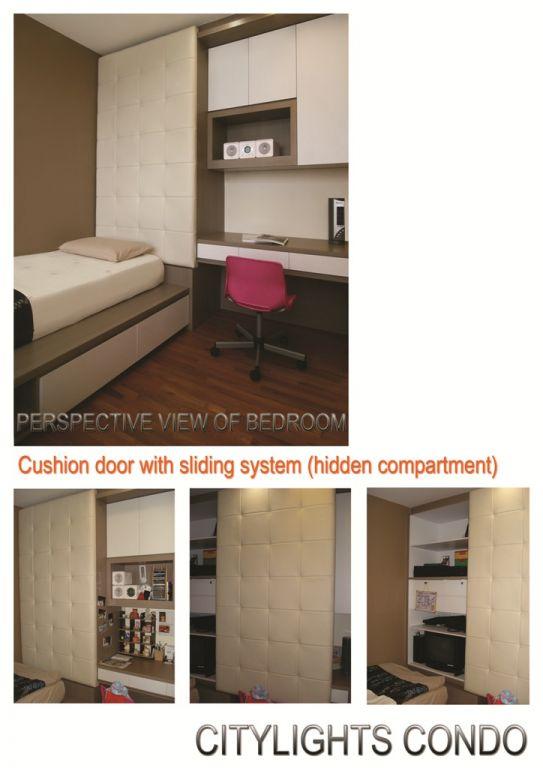 Girl's Room - cushion sliding system (hidden)