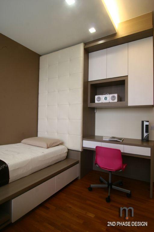 Bedroom 2_bedframe & study cum cabinets