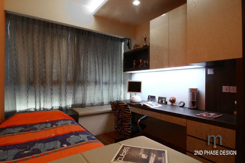 Bedroom 3_bedframe cum bench & study cum cabinets