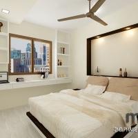Bedroom 2_bedframe & study