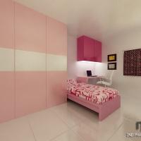 girl's bedroom_wardrobe & study