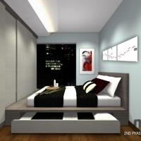 Master Bedroom - Bedframe cum wardrobe