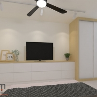 Master bedroom_wardrobe&TV console
