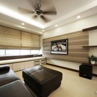 Living area_TV feature cum bench