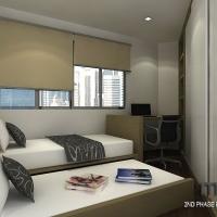 Bedroom2_bedframe cum wardrobe & study