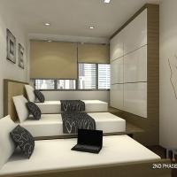 Bedroom3_bedframe cum wardrobe