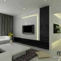 Living area - TV feature