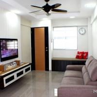 Living area - TV console