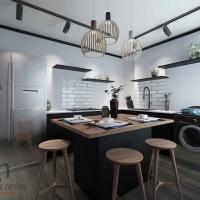 Kitchen Cabinets cum Island
