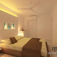 Master bedroom_bedhead & wardrobe