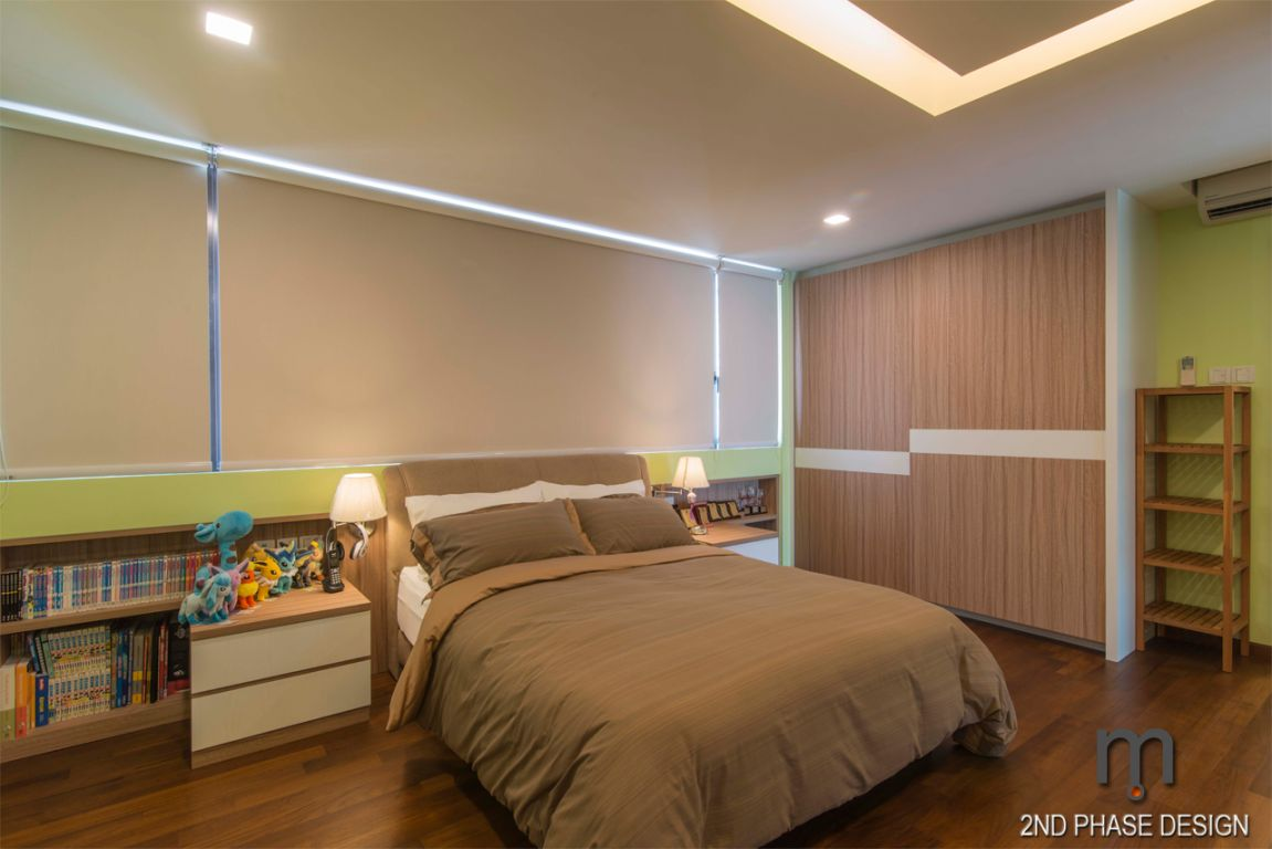 Bedroom 04_bookshelves & wardrobe