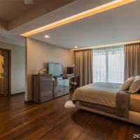 Master bedroom_display & TV feature cum study