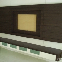 Living area - TV feature wall