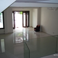 Living area - glass divider