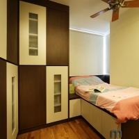 Bedroom 2-2 - bedframe cum wardrobe