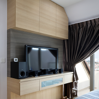Master bedroom_TV feature